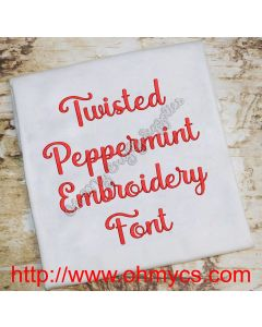 Twisted Peppermint Embroidery Font (BX Included)