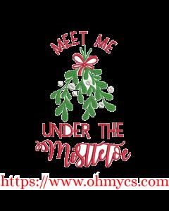 Meet Under the Mistletoe Embroidery Design