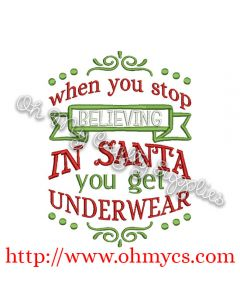 Underwear Christmas Embroidery Design