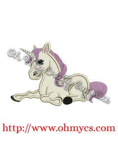Unicorn Applique Design