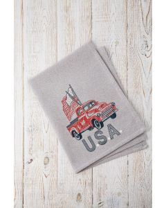 USA Vintage Truck Embroidery Design