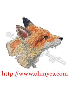 Watercolor Fox Embroidery Design