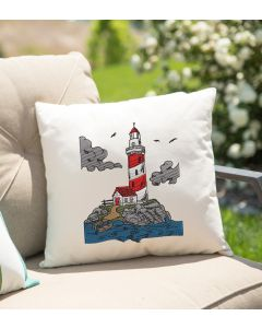 Watercolor Lighthouse Embroidery Design