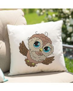 Watercolor Owl Embroidery Design