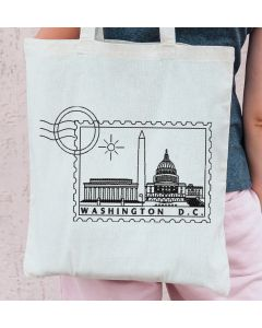 Washington DC Stamp Embroidery Design