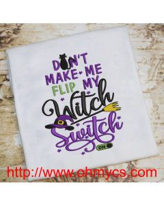 Witch Switch 2020 Embroidery Design