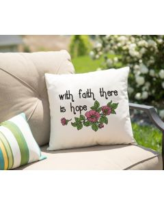 With Faith There is Hope Embroidery Design