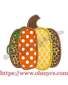 Wonky Pumpkin Applique Design
