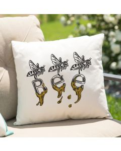 Honey Word Bee Embroidery Design