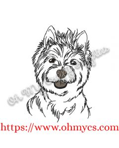 Westie Sketch Embroidery Design